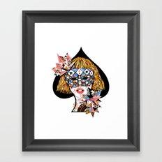 Poker Face Framed Art Print