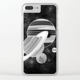 Cluttered Space Clear iPhone Case