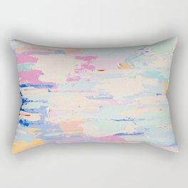 BUTTERCREAM BLUES // ABSTRACT MIXED MEDIA ON CANVAS  Rectangular Pillow
