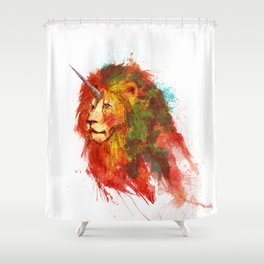 King of Imaginary Beasts Shower Curtain