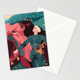 The Beautiful Lady Without Mercy  Stationery Cards
