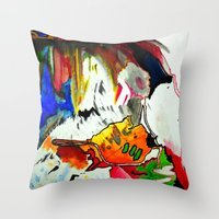 joy Throw Pillows featuring Joy by Aaron Carberry