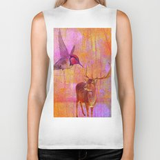 The loves platonic of the hummingbird and the deer Biker Tank