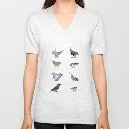 Birds birds birds Unisex V-Neck