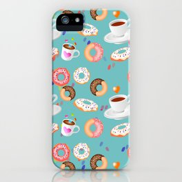 Coffee and Doughnuts iPhone Case