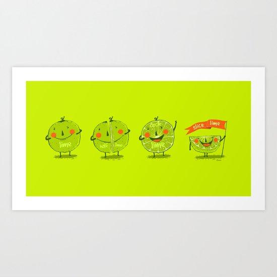 Lime emotions  Art Print