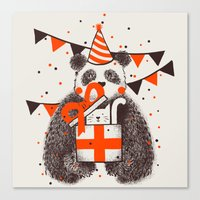 happy birthday Canvas Prints featuring Happy Birthday by Tobe Fonseca
