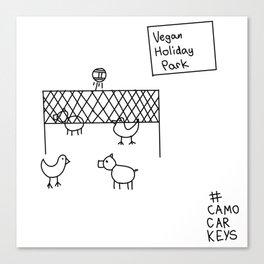 vegan holiday park Canvas Print