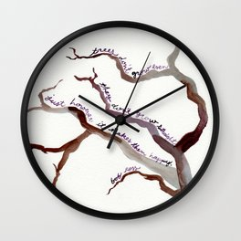 BOB ROSS QUOTE//TREES DON'T GROW EVEN, THEY DON'T GROW STRAIGHT Wall Clock