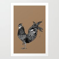 chicken Art Prints featuring Chicken  by Aubree Eisenwinter