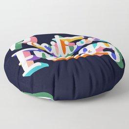 Positive Energy- typography Floor Pillow
