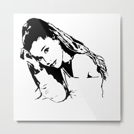 PORTRAIT 0F AN AMERICAN FEMALE POP STAR,ACTRESS AND SONGWRITER Metal Print