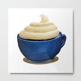 Mug with Whipped Cream Metal Print