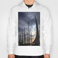 sailing Hoodies featuring sailing by gzm_guvenc