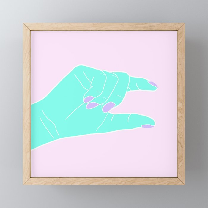 THE PINCHING HAND Framed Mini Art Print