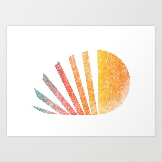 Raising sun (rainbow-ed) Art Print