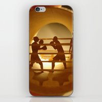 boxing iPhone & iPod Skins featuring Boxing (Boxe) by Anastassia Elias