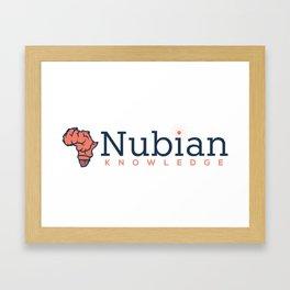 Nubian Knowledge Framed Art Print