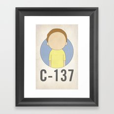 C-137 Framed Art Print