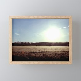 Staring Into the Sun Framed Mini Art Print