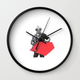 Black and White and Red All Over 8 Wall Clock