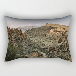 Balanced Rock Valley View in Big Bend - Landscape Photography Rectangular Pillow