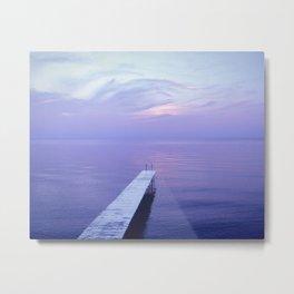 Long Dock Coastal Potography Metal Print