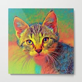 AnimalColor_Cat_ 010_by_JAMColors Metal Print