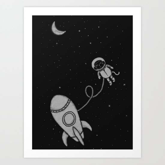 Monkey in Space Art Print