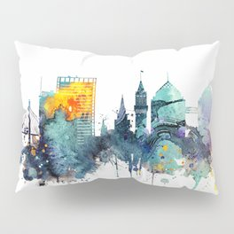 Watercolor Oakland skyline cityscape Pillow Sham