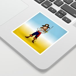 Pirate Girl Sticker
