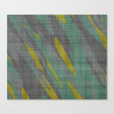 Yellow Gray and Green Canvas Print