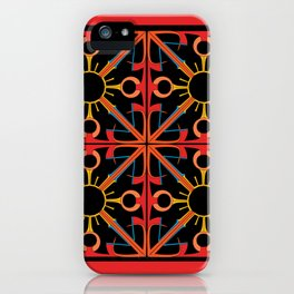 Peace is Warm Tiled iPhone Case