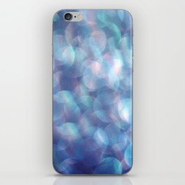Blue Bubbles iPhone Skin