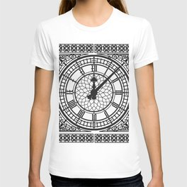 Big Ben, Clock Face, Intricate Vintage Timepiece Watch T-shirt