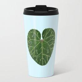 Cyclamen leaf - light blue Travel Mug