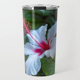 White Hibiscus Travel Mug