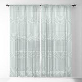 Art Deco Arch Pattern XIX Sheer Curtain