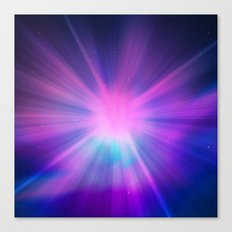 Bursting Galaxy Canvas Print