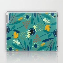 Floral dance in blue Laptop & iPad Skin