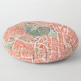 Tokyo city map classic Floor Pillow