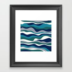 Cordillera Stripe: Teal Navy Combo Framed Art Print