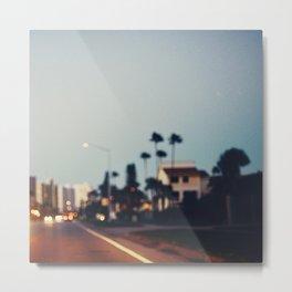 Stop & Glow Metal Print