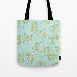 Gold Squid (Mint) Tote Bag