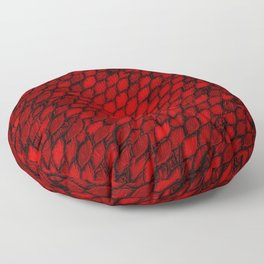 Red Dragon Scales Floor Pillow