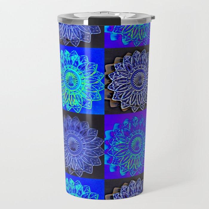 Many Blue Stars Travel Mug