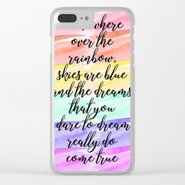 Watercolor - Over the Rainbow Clear iPhone Case