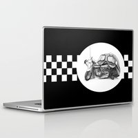 cafe racer Laptop & iPad Skins featuring Cafe Racer II by Rainer Steinke