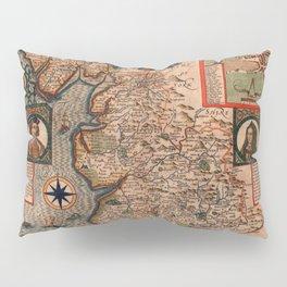 Map Of England 1610 Pillow Sham