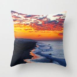Sunrise Huntington Beach Pier   12/12/13 Throw Pillow